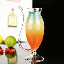 2 шт 150 мл креативная стеклянная кружка с соломинкой Для холодного напитка для домашнего использования и вечерние бокалы для вина
