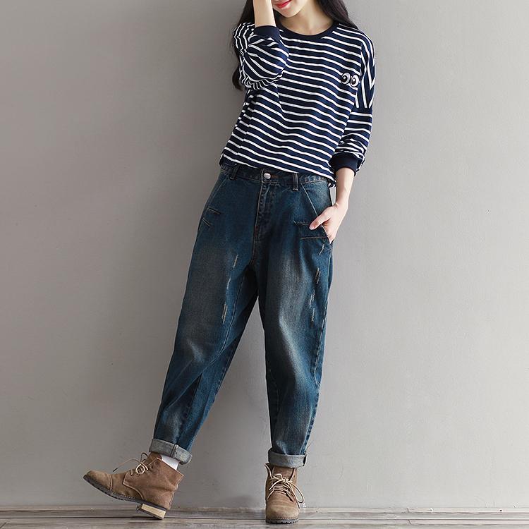 17 Winter Big Size Jeans Women Harem Pants Casual Trousers Denim Pants Fashion Loose Vaqueros Vintage Harem Boyfriend Jeans 7