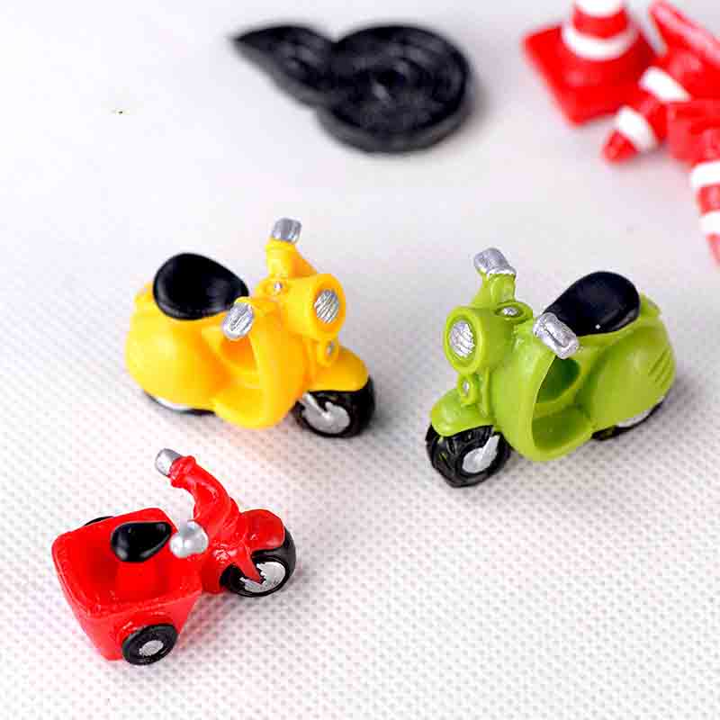 3 PCS Motorcycle Tricycle Transportation Miniature Ornament DIY Micro Dollhouse Fairy Garden Miniature Home Decoration