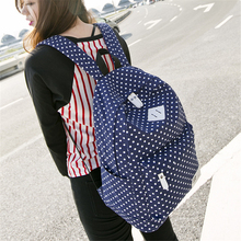 Canvas backpack sister bag fashion leisure elementary school junior high students men and women