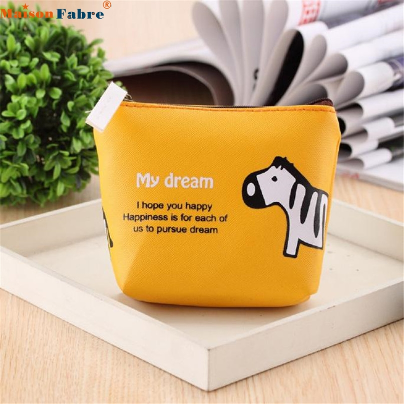 Maison Fabre Jasmine Boys Girls Cute Cartoon Animal Coin Purse Wallet Bag Change Pouch Key Holder Nov11 2016 new cute portable cartoon bag change case plush purse handbag girls cute goody animal round coin change wallet wholesale
