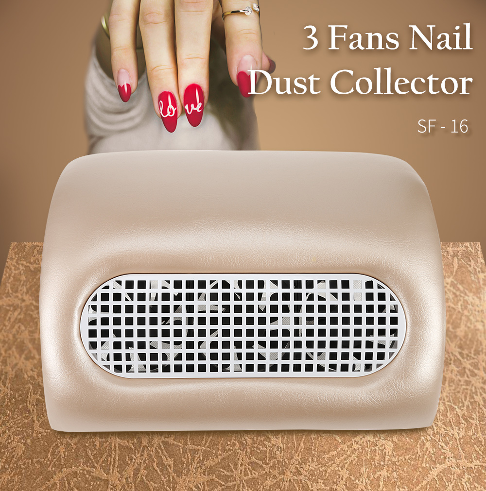 3 Fans Nail Dust Collector Manicure Machine 15W 2 Level Speed To Adjust Nail Dust Collector Nail Dust 2 Dust Bag 100-240V drill buddy cordless dust collector with laser level and bubble vial diy tool new