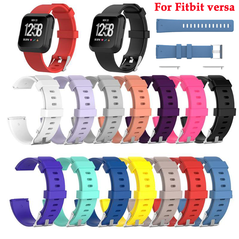 watch band Wristband For Fitbit versa smart watch Replacement Sports Soft Silicone strap Wrist Band For Fitbit versa Accessories in Watchbands from Watches