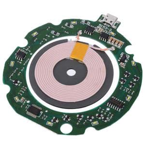 DIY 10W 9 V/2A Micro USB Qi Быстрый модуль беспроводного зарядного устройства PCBA печатная плата модуль Катушки Круглый зарядки аксессуары для iphone X