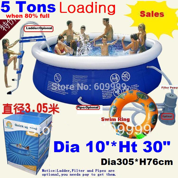 Large 305*76cm(10*30) Top Ring Inflatable Support Swimming Pool for Kids & Parents/Super-tough PVC Laminated Swimming Pool