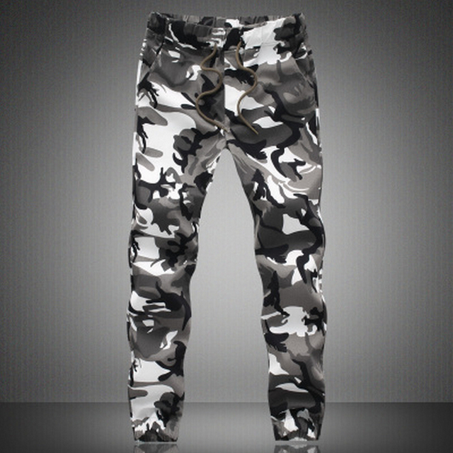 2015 New Spring Fashion Brand Men Pants Men Military Camouflage Pencil Pants Joggers Sweatpants Army Pants Trousers 5XL