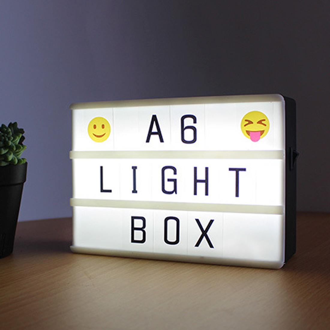 Premuim A6 Lightbox Light Letters Combination Cinematic Light Box Card LED Lamp Luminous Box DIY Symbols Numbers