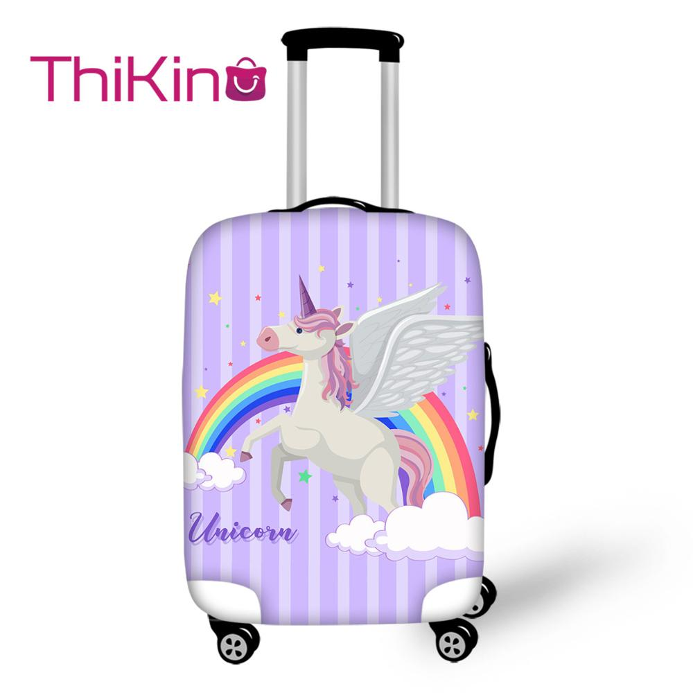 Thikin Unicorn Travel Luggage Cover for Teens Cartoon School Trunk Suitcase Protective Cover Travel Bag Protector Jacket in Travel Accessories from Luggage Bags