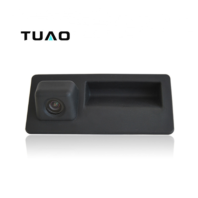 imágenes para TUAO Mango Maletero Del Coche Del Vehículo de la Cámara HD Cámara de Visión Trasera para Audi A4 S5 Q5 Q3/VW Passat Tiguan Golf Passat Jetta Touran Touareg