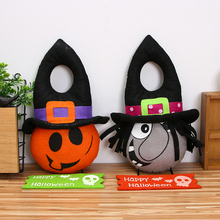 high quality 3 styles plush pumpkin witch happy halloween hanging tag dolls door window bar decoration halloween decor props