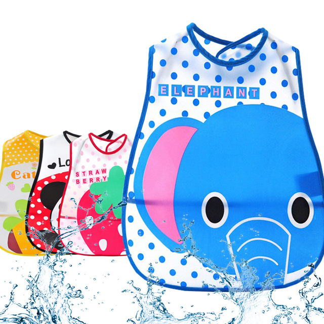 DreamShining Cartoon Baby Bibs Eva Waterproof Newborn Bandanas Feeding Baby Burp Cloths Girls Boys Saliva Towel Print Apron