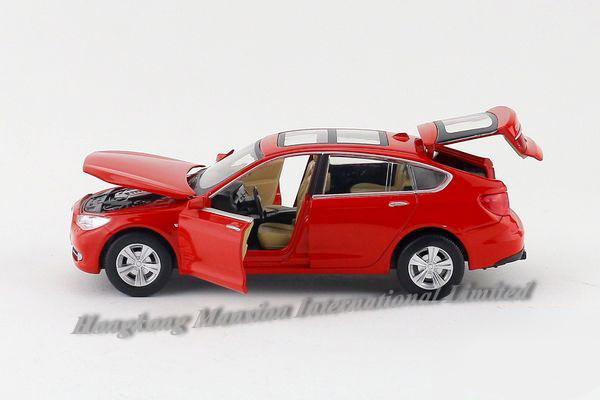 1:32 Scale Alloy Diecast Metal Car Model For TheBMW GT 535i 5 Series Collection Model Pull Back Toys Car With Sound&Light