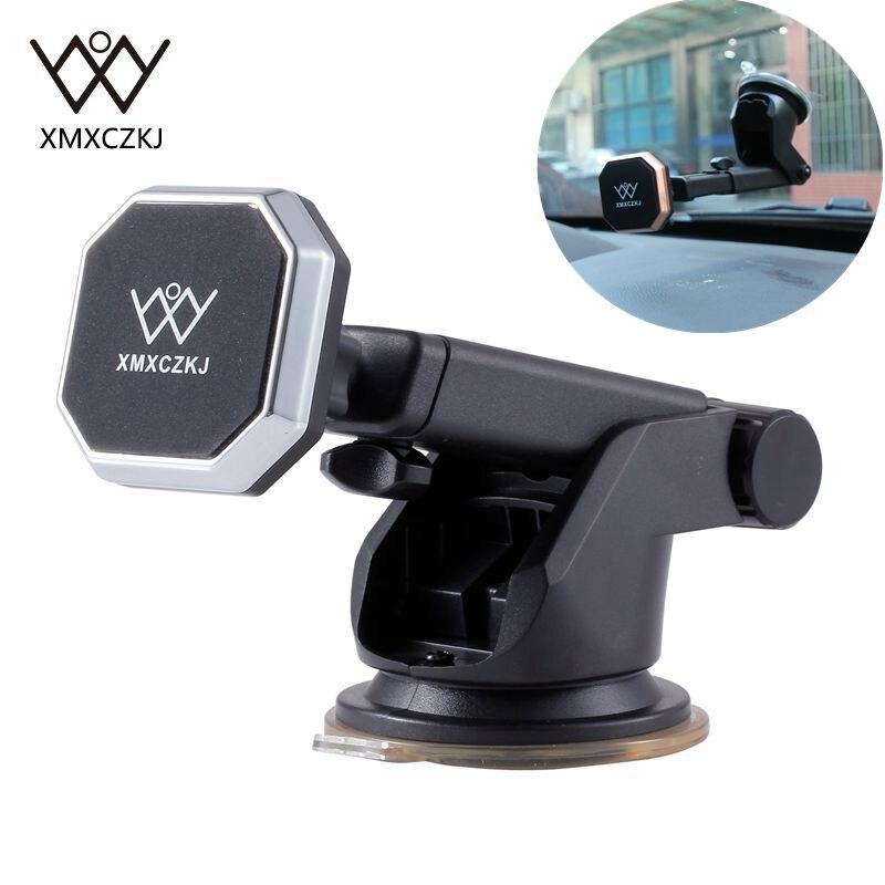 Universal Magnetic Car phone Holder Adjustable Magnet Car Windshield Dashboard Mount Holder Stand For iPhone 7 7Plus Samsung GPS