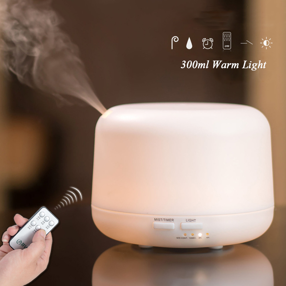 Remote Control 300ML Ultrasonic Air Aroma Humidifier With 7 Color Lights Electric Aromatherapy Essential Oil Aroma Diffuser microcomputer intelligent humidifier aroma purification remote control a key touch ultrasonic humidifier