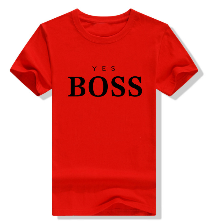 Cotton Short Sleeve Letter Printed Tee   Shirts   Leisure   T  -  shirt   Men Casual Tee   Shirts   BOSS Hip Hop Fashion Designer   T     Shirt   Man