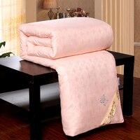 Custom 100% Chinese Silk Blanket Winter Silk Comforter 100% Cotton Cover Spring Summer Autumn Winter Silk Quilt Full Queen King