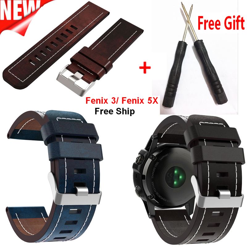 for garmin fenix 5x watch band leather wrist watch strap. Black Bedroom Furniture Sets. Home Design Ideas