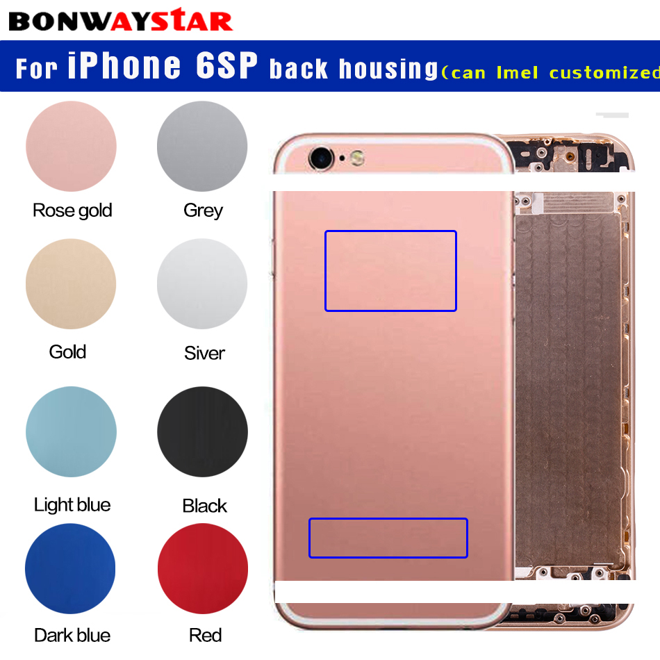 for iPhone 6sp Back housing Battery Cover metal custom Case for ...