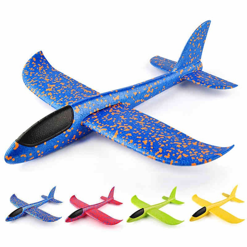 48cm Hand Launch Throwing  Glider EPP Foam Aeroplane Model Flying Glider Airplane Toy Children Outdoor Flaying Glider Toys Plane