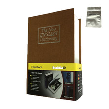 Home Dictionary Diversion Small size Book Safe with Key Lock, Metal