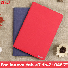 Case Cover PU Leather Case For lenovo tab e7 tb-7104f Tablet