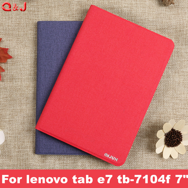 Case Cover PU Leather Case For Lenovo Tab E7 Tb-7104f Tablet Cover Funda For Lenovo Tab E7 Case  For Lenovo Tab E7 Tb-7104 Case