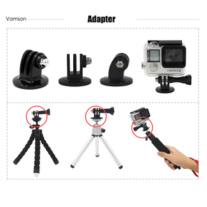 Image 3 - Vamson for Gopro Accessories Motion camera tripod screw tripod adapter 1/4 screw For Gopro 6 5 4 3+ 3 for Xiaomi for SJCAM VPX1