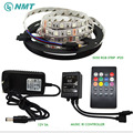 5-10m 5050 RGB LED Strip Light 60leds/m IP20/IP65 Waterproof+ Music Remote Controller + Power Adapter Supply Kit