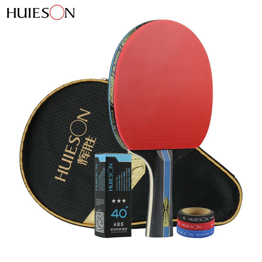 4 estrellas raqueta de tenis de mesa 40 + ABS granos en condones ataque rápido deportes de raqueta de Ping Pong largo/ mango corto