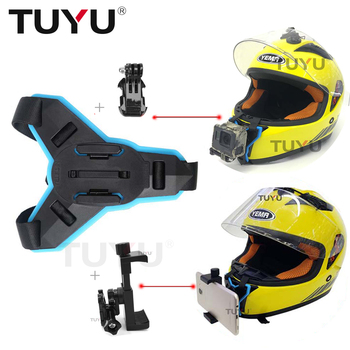 TUYU Motorcycle Helmet Chin Bracket Mount Adapter for Gopro Hero 7 6 5 4 SJCAM Xiaomi Yi EKEN suit for All Sports Action Camera
