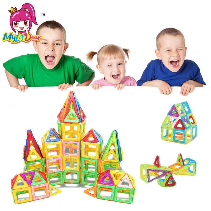 100 шт. 32 шт. блоки Магнитный дизайнерский Строительный набор модель и строительные игрушки пластиковые магнитные блоки Развивающие игрушки для детей