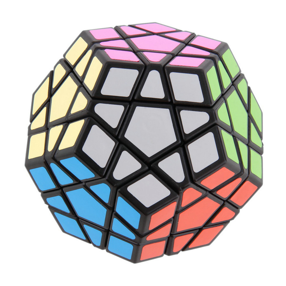OCDAY Fidget Cube Stickerless Toys 12-side Megaminx Magic Cube Puzzle Speed Cubes Office Educational Toys For Anti-stress cubo