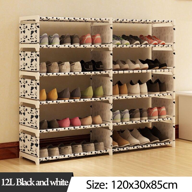 Image 3 - 5 слоев 10 сетчатый стеллаж для обуви из нетканого материала в сборе обувной шкаф для дома, гостиной, мебели, органайзер для обуви, шкаф для хранения-in Обувные шкафы from Мебель on AliExpress
