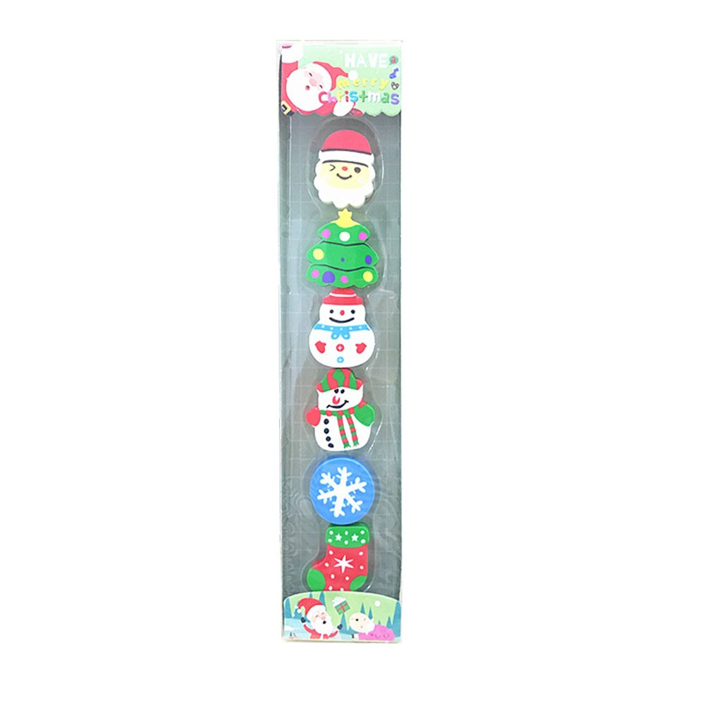 Cute Cartoon Christmas Eraser Set Primary School Children Gift Creative Stationery