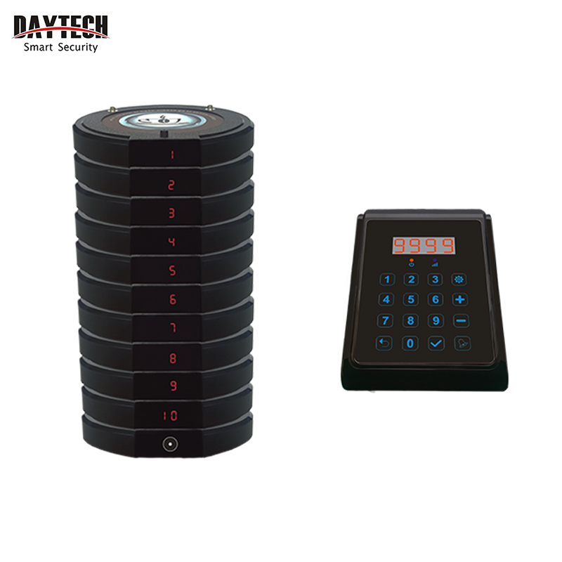 цена на DAYTECH Wireless Call Button Calling System Resturant Coaster Pager Waiter Service Call Pagering Transmitter Buzzers