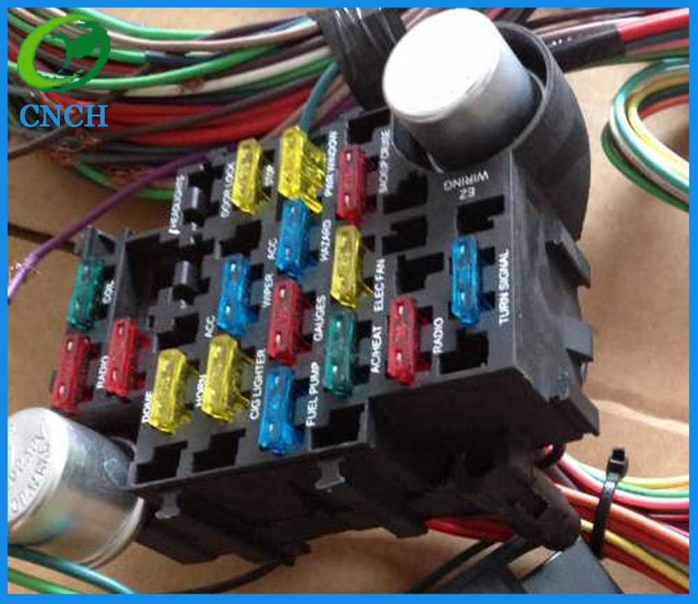 Ez 21 Wiring Harness Library Painless Hot Rod Aliexpresscom Buy Circuit 17 Fuses Universial Wires