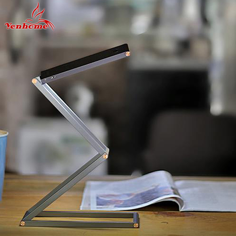 New Creative Eye-protection Reading Desk Table Lamp 360 Degree Folding Adjustable Portable Bright USB Rechargeable Led Desk Lamp