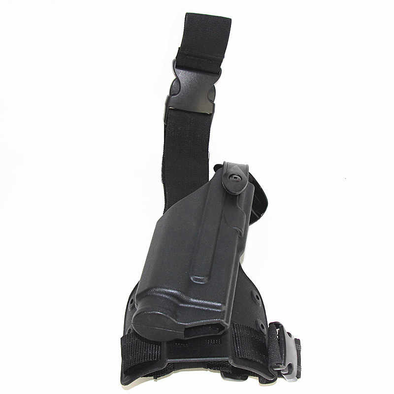 Glock Jacht Drop Leg Holster Zaklamp Airsoft Holster Glock 17 19 22 23 31 32 Licht Bearning Pistool Dij holster