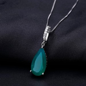 Image 3 - Gems Ballet 7.89Ct Natural Green Agate Gemstone Pendant  925 sterling Silver Necklaces&Pendants For Women Fine Jewelry