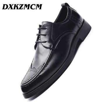 DXKZMCM Genuine Leather Men Oxford Shoes, Lace Up Casual Business Men Shoes, Brand Men Wedding Shoes, Men Dress Shoes - DISCOUNT ITEM  45% OFF All Category