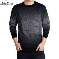 Men 2016 Winter Cashmere Wool Sweater Brand Clothing Mens Sweaters Fashion Print Casual Shirt Pullover Men