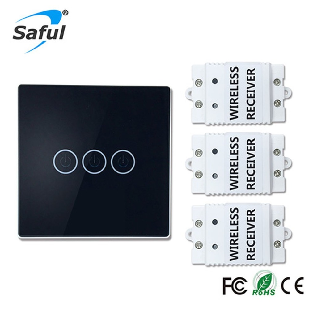 Remote Control Touch Wireless Switch Panel (ts-w433) Three-way PanelRemote Control Touch Wireless Switch Panel (ts-w433) Three-way Panel