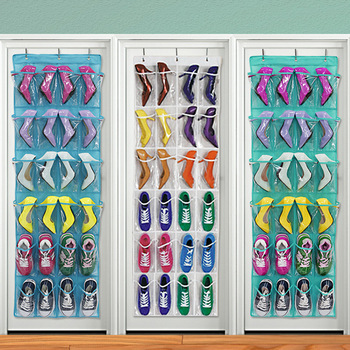 Doreen Box 24 Pockets Multifunction Over Door Shoes Hanging Bag Box Shoes Storage Holder with Hooks Home Storage Organizer 1PC