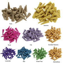 40pcs/Box Incense Natural Incense Sticks Rose Tulip Scent Tower Sandalwood Spice Incense Tsao Backflow Incense Grains