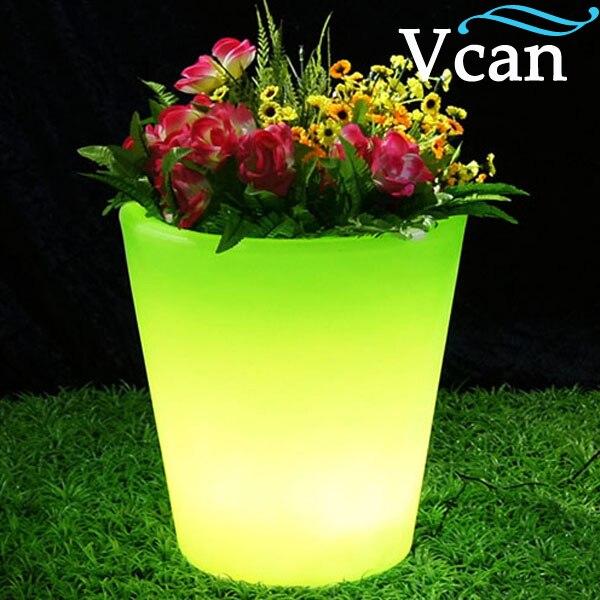 Super lumineux belle belle led lumière pot de fleur pour la partie de mariage VC-F3040