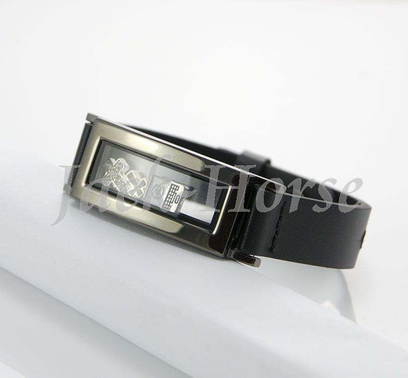 Leather Charm Bracelet Magnetic Gl Floating Locket Graphite For Men In Chain Link Bracelets From Jewelry Accessories