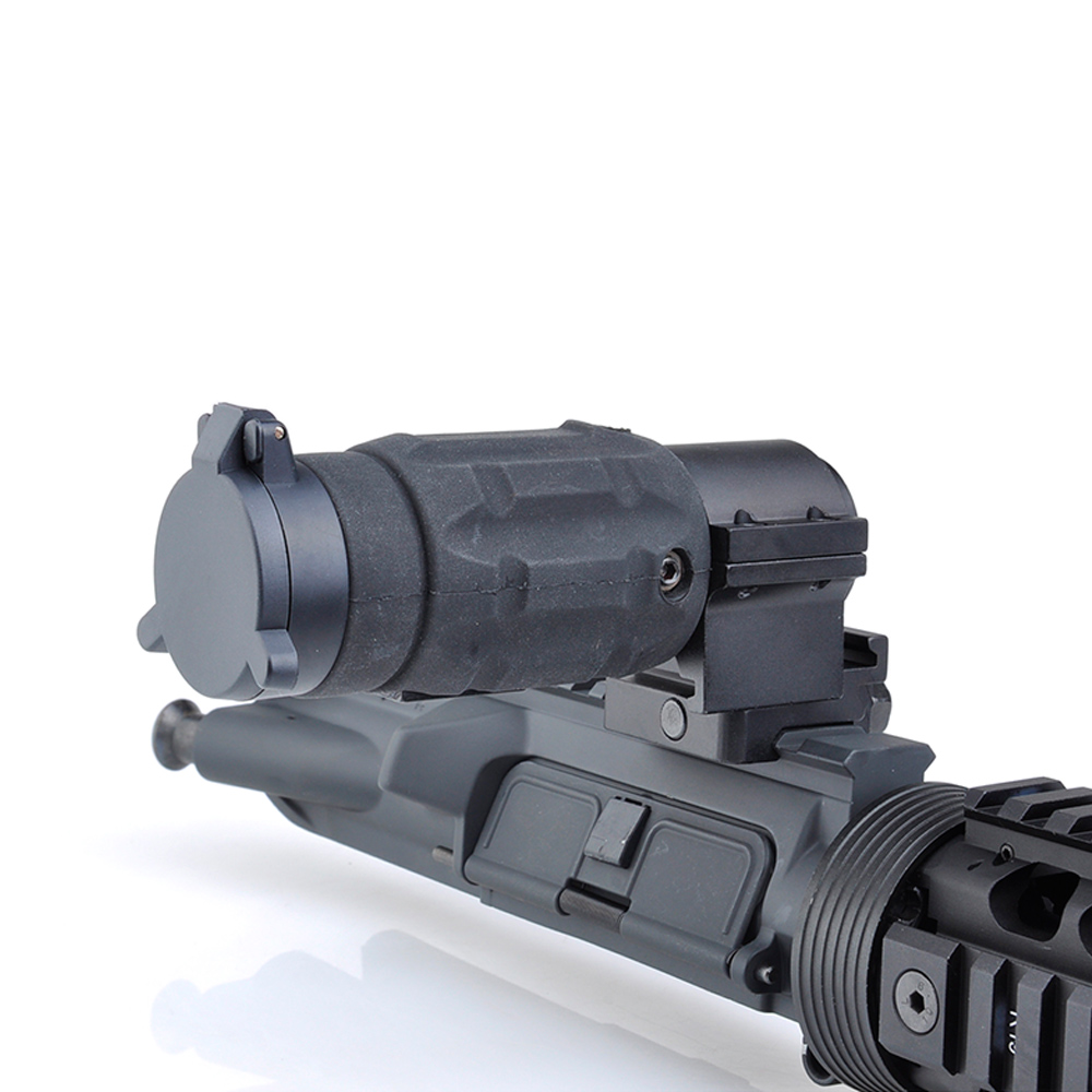 Tactical Hunting Aim red dot optic sight Gun holographic Rifle Scope AP Style 3X Magnifier With QD Twist RIS weaver Mount 3x magnifier scope compact tactical sight with flip to 20mm rifle gun rail mount use with 551 552 553 riflescope