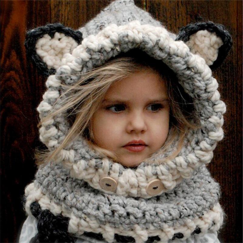 Aliexpress Buy Children Winter Hat Crochet Hooded Hat Pattern