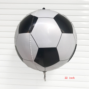 1PC 22inch 4D Football Foil Balloons Happy Birthday Party Balloons Decorations Kids Inflatable Toys Football Fans DIY Decoration(China)