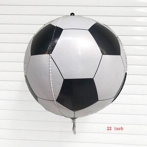 1pc 22 polegada 4d balões da folha de futebol feliz aniversário festa balões decorações crianças brinquedos infláveis fãs futebol decoração diy